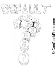 formulaire, question, signe, dollar, or, marque, pièces