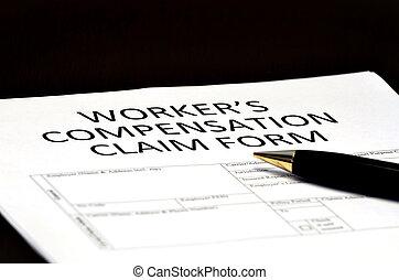 formulaire, worker's, comp, claims, compensation