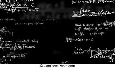 formulas., loopable, fond, math