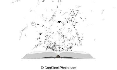 formules, co, physique, book., math