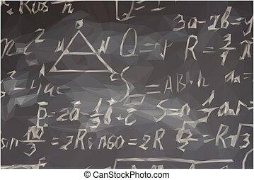 formules, noir, planche, math