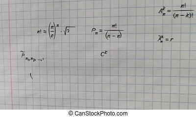 formules, papier, carré, math