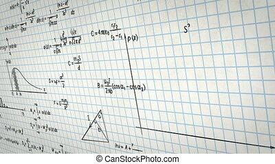 formules, papier, physique, math