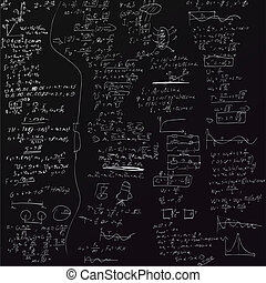 formules, vecteur, fond, physique
