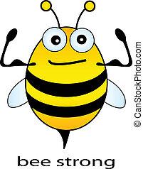 fort, abeille