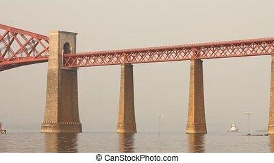 forth, dépassement, train, pont