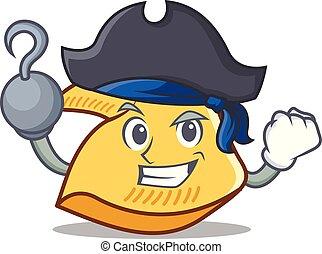 fortune, caractère, petit gâteau, dessin animé, pirate