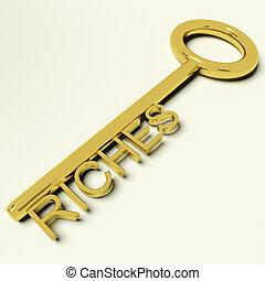 fortune, richesse, or, richesses, clã©, représenter