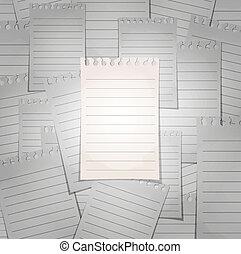 foule., concept, sheet., bloc-notes, spirale, séparation, revêtu