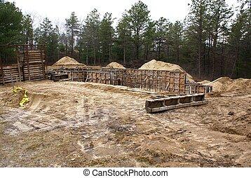 foundation., maison, nouveau