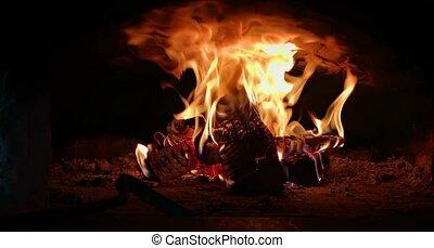 four, boucle, brûler, brique