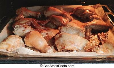 four, conventionnel, poulet, préparation