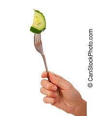 fourchette, concombre