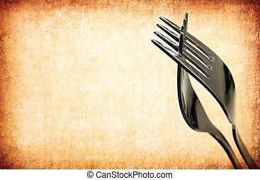 fourchette, vendange, résumé, fond