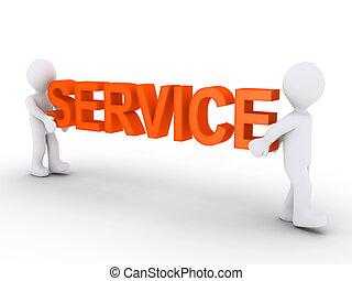 fournir, personnes, deux, service