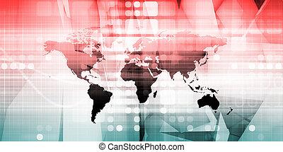 fourniture, chaîne, réseau