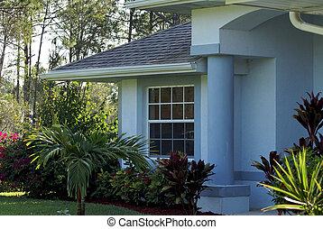foyer bleu, blanc