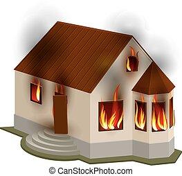 foyer tir, insurance., propriété, privé