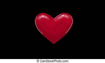 fréquence cardiaque, fond, boucle, écran, seamless, pulsation, animation., recherche médicale, ligne, exposer