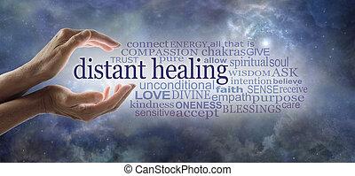 fréquence, reiki, guérisseur, mots, associé, envoi, énergie, élevé