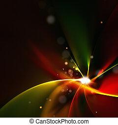 fractal, clair, résumé, fleur