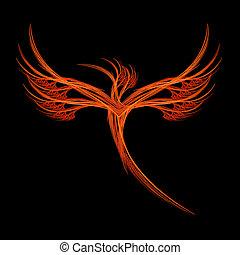 fractal, oiseau