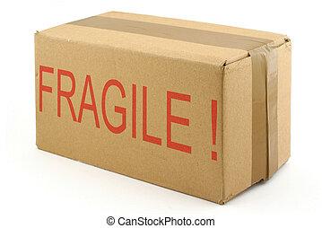 fragile, bo, carton