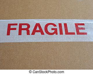fragile, panneau avertissement