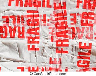 fragile, paquet, paquet
