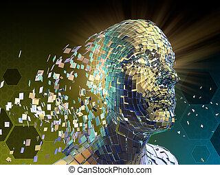fragmentation, humain, identité