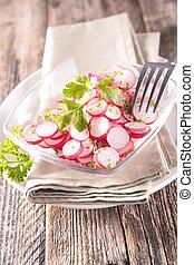 frais, bol, aromate, radis