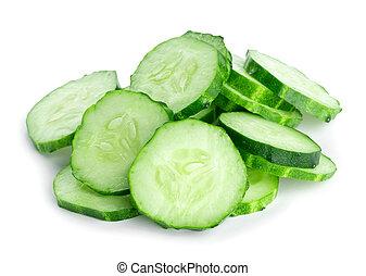 frais, couper, concombre