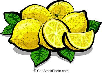 frais, juteux, citrons