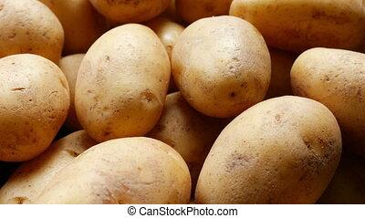 frais, organique, pommes terre, cru