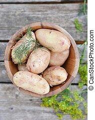 frais, organique, pommes terre