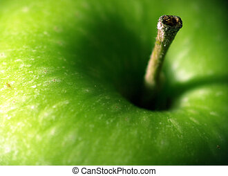 frais, pomme, macro
