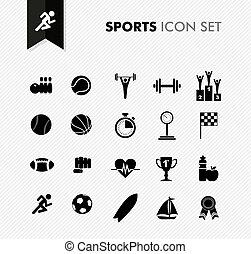 frais, set., sports, icône