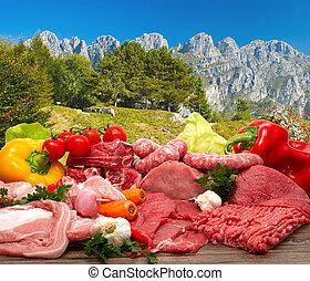 frais, viande crue