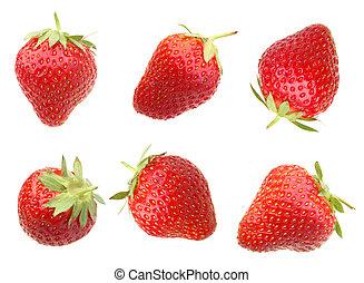 fraise, blanc, baie
