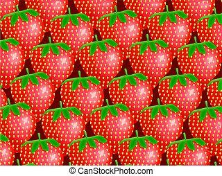 fraise, papier peint