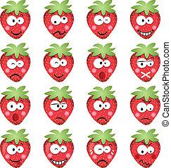 fraises, émotions