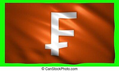franc, drapeau, vert, écran, symbole