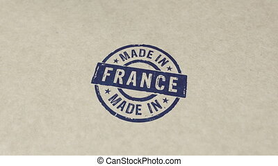 france, animation, fait, timbre, compostage