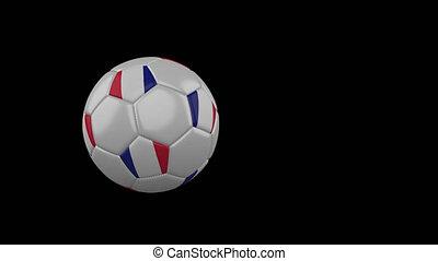 france, football, transparent, fond, drapeau, balle, voler, canal, alpha