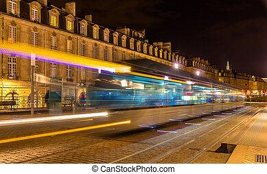 france, tram, -, aquitaine, bordeaux, mouvement