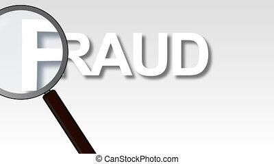 fraude, magnifié, mot