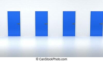 freedom:, lumière, porte, ouverture