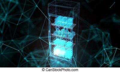 frigidaire, fin, marché, hologramme, haut, 03