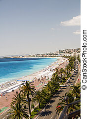 from, azur, anglais, riviera, hôtel, france française, promenade, célèbre, cote, boulevard, revêtu, plage, gentil