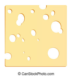 fromage, couper, carrée